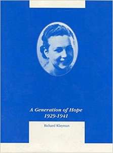 A Generation Of Hope: 1929-1941