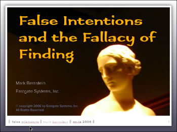 False Intentions and the Fallacy of Finding