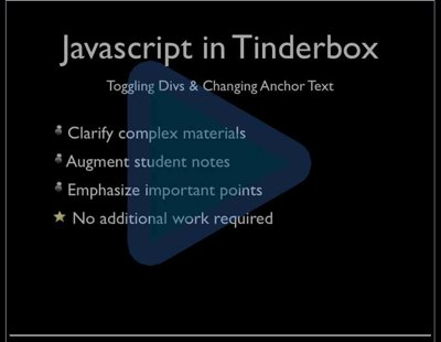 Teaching With Tinderbox